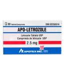 A bottle of Apo-Letrozole 2.5mg